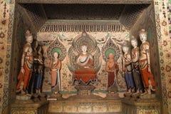 Cavernas de Mogao em Dunhuang, China Imagens de Stock Royalty Free
