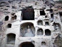 Cavernas de Mogao ou mil grutas da Buda em Dunhuang, China imagem de stock