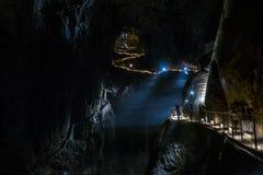 Cavernas de Skocjan, local da herança natural em Eslovênia imagens de stock
