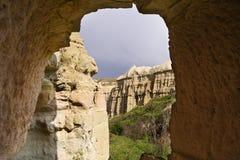Cavernas de Uchisar Cappadocia Fotos de Stock Royalty Free