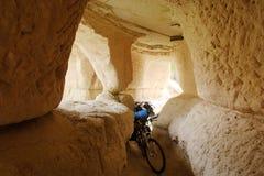Cavernas de Uchisar Cappadocia Fotografia de Stock