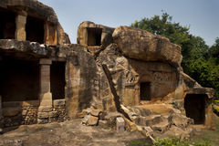 Cavernas de Udayagiri imagens de stock royalty free