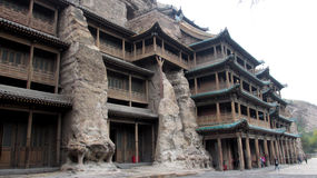 Cavernas de Yungang Imagem de Stock