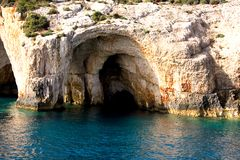 Cavernas del mar - isla de Zakynthos Fotografía de archivo libre de regalías