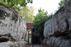 Cavernas del país de las hadas en los jardines de la ciudad de la roca en Chattanooga, Tennessee Fotografía de archivo