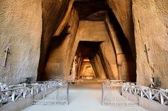 Cavernas do cemitério da fontanela em Nápoles, Itália Imagem de Stock Royalty Free
