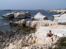Cavernas do mar, Chipre. Imagem de Stock Royalty Free
