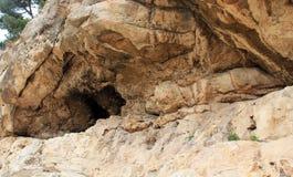Caverne antique chez la vallée Cédron, Photo libre de droits