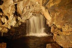 Caverne blanche de cicatrice Image libre de droits