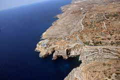 Caverne bleue Zurrieq Malte de grotte images libres de droits