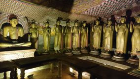Caverne Bouddha, Sri Lanka de Dambulla photo libre de droits