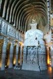 Caverne bouddhiste d'Ajanta Photos libres de droits