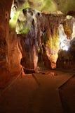 Caverne Calaveres à Benidoleig en Espagne Photographie stock libre de droits