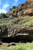 Caverne che sono state abitate in dai nativi Fotografie Stock