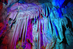 Caverne colorée Image libre de droits