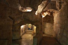 Caverne d'église de grotte de lait à Bethlehem Territoires palestiniens l'israel photos stock