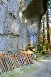 Caverne d'Amitabha de Risshaku-JI - Yamadera Photo stock