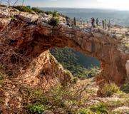 Caverne d'arc-en-ciel en Galilée supérieure, Israël Image libre de droits