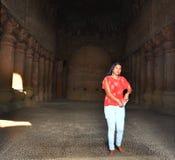 Caverne d'Elephanta dans Mumbai Inde image libre de droits