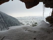 Caverne d'hiver Photos libres de droits