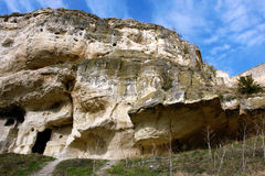 Caverne dans la roche Images libres de droits