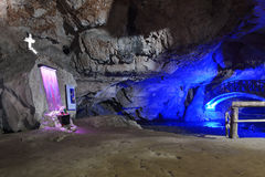 Caverne de Bolii la Transylvanie - Roumanie Image libre de droits