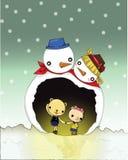 Caverne de bonhomme de neige illustration stock