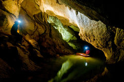 Caverne de Buhui Photographie stock