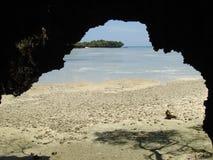 Caverne de corail Image libre de droits