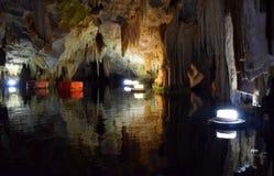 Caverne de Diros, Grèce image libre de droits