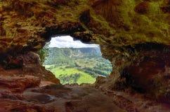 Caverne de fenêtre - Porto Rico Photos stock
