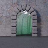 Caverne de feu vert avec la voûte de rocher photo stock