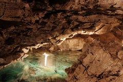 Caverne de glace de Kungur Photographie stock libre de droits