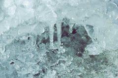 Caverne de glace Glace de texture Fond pour une carte d'invitation ou une félicitation Photos stock