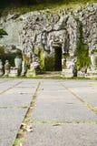 Caverne de Goa Gajah (caverne d'éléphant), Bali Images stock