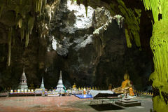 Caverne de Khao Luang Photos libres de droits