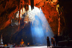 Caverne de Khao Luang Image stock