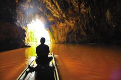 Caverne de Lod chez Maehongson Images stock