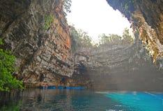 Caverne de Melissani Images stock