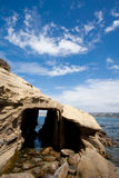 Caverne de mer à la crique de La Jolla Photo libre de droits
