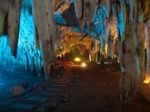 Caverne de poubelle de Tham Khao Photos stock