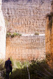 Caverne de roche, Calascibetta Photo stock