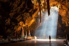 Caverne de Tham Khao Luang Images libres de droits