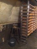 Caverne del condimento del formaggio Fotografia Stock