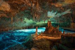 Caverne del drago su Maiorca, grandangolare Fotografia Stock