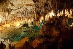 Caverne del drago su Maiorca, Spagna Belle caverne della natura su Mallorca, Balearic Island Destinazione turistica popolare fotografia stock