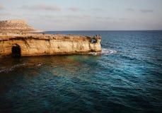Caverne del mare in Cipro Immagine Stock Libera da Diritti