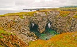 Caverne del mare sulla costa atlantica Fotografia Stock Libera da Diritti