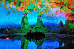 Caverne della Cina Guilin Fotografia Stock