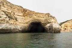 Caverne della spiaggia di Benagil, Algarve, Portogallo Fotografia Stock Libera da Diritti